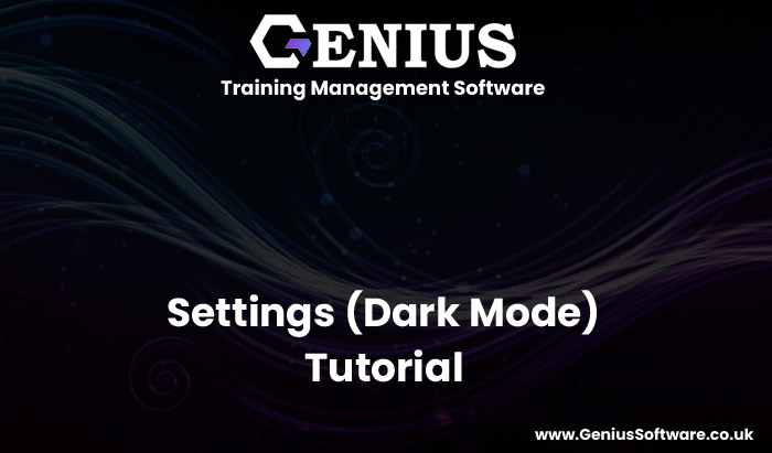 Training Management Software help video - Dark Mode